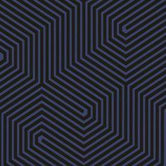 Papier peint géométrique bleu Labyrinth - Cole and Son - Au fil des Couleurs