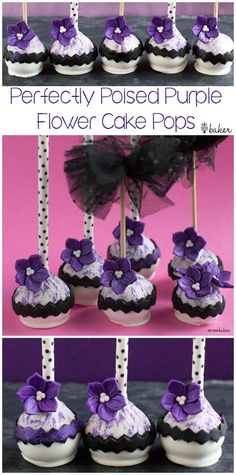 Perfectly Poised Posies on stunning Cake Pops! Perfect for a fashionable party and done in no time!: Perfectly Poised Posies on stunning Cake Pops! Perfect for a fashionable party and done in no time!