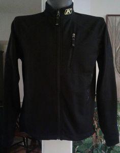 Klim Mens Snow Casual Windstopper Coat Jacket Zippered Black M Light Layer
