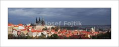 Fine Art Photography Print on a high-end photo paper - Hradcany and Lesser Town from the Strahov Garden, Prague, Czech Republic