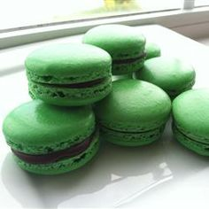 French Macaroons Allrecipes.com  (Helpful to read all the reviews for ideas for success...like the idea of different colors and flavors)