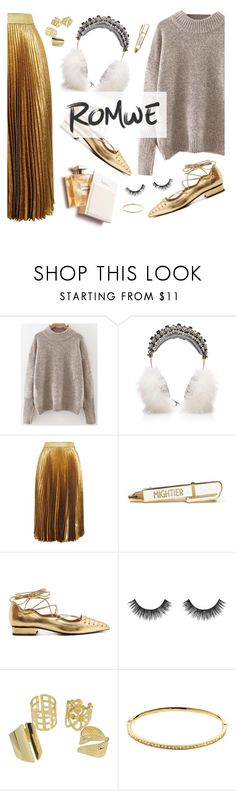 """""""Gold"""" by natyleygam ❤ liked on Polyvore featuring Dolce&Gabbana, Christopher Kane, Rue St., Velour Lashes, Melissa Odabash and romwe"""
