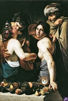 Allegory of the Four Seasons - Manfredi's picture has been interpreted as an allegory of the Four Seasons, linked to the iconography of the Five Senses and explained as the four ages of man exemplified by various phases of love.