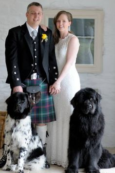 Wedding Day with our beautiful Newfoundlands