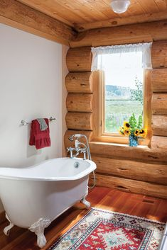 55 Best Log Home Bathrooms Images In