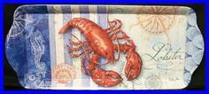lobster and crab placemats | Medium Melamine Serving Tray NEW Lobster Seafood Kitchen Dining