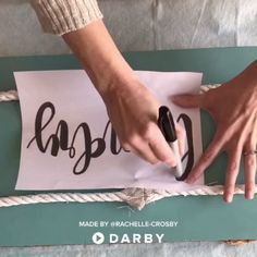 How to Transfer Lettering to Make a Sign For Your Home #darbysmart #diy #diyprojects #diyideas #artsandcrafts #repurposing #homedecor #paint #wood #farmhousedecor
