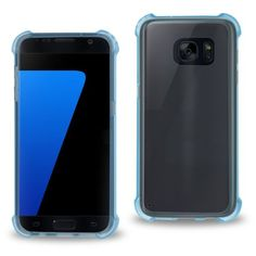 Reiko Samsung Galaxy S7 Transparent Tpu Case With Cushion Shock Absorption Technology-CLEAR NAVY