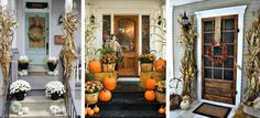 Sharing lots of beautiful Fall front Porches. Full of inspiration and ideas. Use these to get your own home ready for Fall.