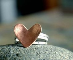 VALENTINE  Stack Rings made to your size by sophiapip on Etsy, $42.00