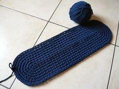 Cómo hacer una alfombra ovalada.