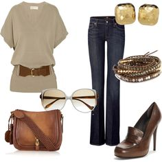 Brown and Gold, created by katiepauls on Polyvore