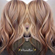 Dark winter blonde. Color by @paintedhair #hairenvy #haircolor #blonde…