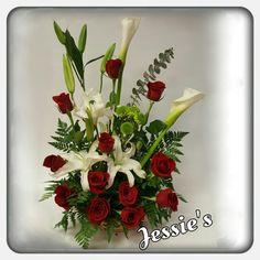 Rosas con Lirios