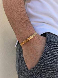 540e314abe Men's Bracelet, Cuff Bracelet Men, Gold Bangle Bracelet, Bangle Bracelet  Men, Gift for Him, Made in Greece, by Christina Christi Jewels