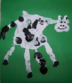 Hand print cow
