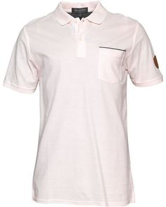 Lyle And Scott Club Mens Tweed Detail Polo Blush £22.49 68% OFF!