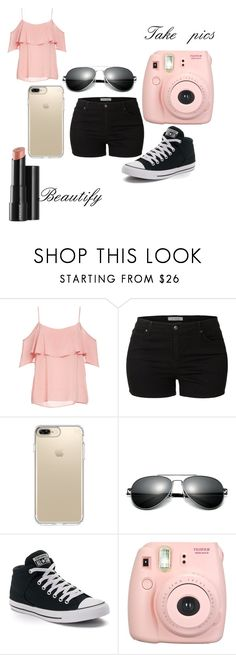 """Summer😍👌🏾"" by jasmine-gallion ❤ liked on Polyvore featuring BB Dakota, LE3NO, Speck, Converse, Fujifilm and Arbonne"