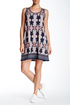Max Studio - Printed Sleeveless Shift Dress at Nordstrom Rack. Free Shipping on orders over $100.