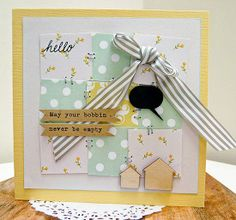 Some cute quilting sentiments on these cards.  From High In The Sky: Cards and Quilting