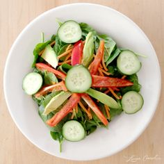 Alkalizing Spinach Salad Recipe {balances your body's pH levels and detoxifies}