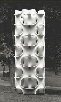 penccil: Modular Constructivism: Norman Carlberg and Erwin Hauer Cast Stone, 3d Prints, Art And Architecture, Parametric Architecture, Parametric Design, Public Art, Surface Pattern, Textures Patterns, Oeuvre D'art