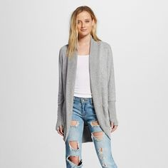 Women's Cardigan Light Gray - Mossimo : Target