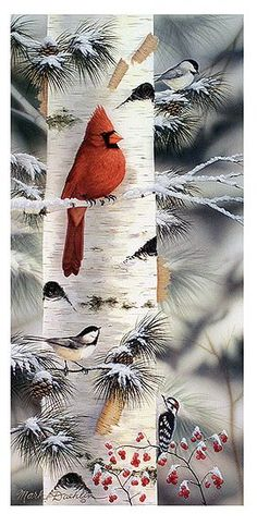 .awww ... could put in art ..but it is such a nice winter scene .. i love the birdies - Gardening Go