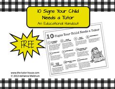 10 Signs Your Child Needs a Tutor