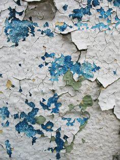 Peeling Paint, white aqua turquoise teal