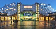 The European Parliament at night