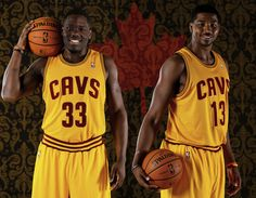 PHOTO: Countrymen Anthony Bennett and Tristan Thompson in their Cavs jerseys. Anthony Bennett, Tristan Thompson, Nba, Basketball, Earth, Sports, Hs Sports, Sport, Mother Goddess
