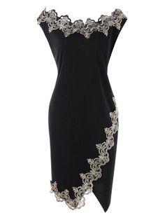 Party bodycon robes gold lace applique black off shoulder mini dress elegante roupas vestidos de festa