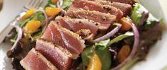 Sesame Seared Ahi Tuna Salad with Ginger Wasabi Vinaigrette