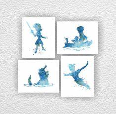 Disney Peter Pan Silhouette le capitaine par myfavoritedecor