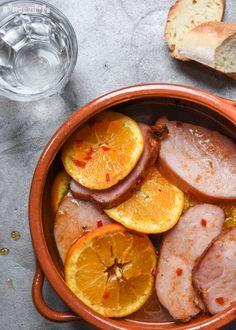 Jamón de cerdo a la naranja