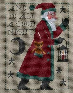 cross stitch counted needlepoint christmas--Prairie Schooler - last Santa in series