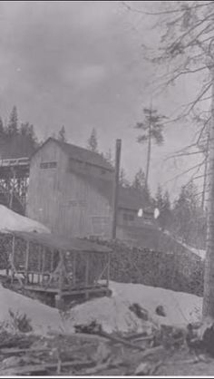Cougar Gulch Mill Coeur D'alene, Idaho, Live, Places, Outdoor, Painting, Vintage, Outdoors, Painting Art