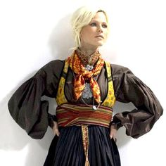 Modern style of Norwegian Telemark Bunad Tribal Dress, Ethnic Dress, Norwegian Clothing, Rite De Passage, Folk Costume, My Heritage, Traditional Dresses, Dress Me Up, Norway