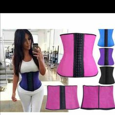 9 Steal boning Latex Waist trainer Top QUALITY .!!.9 STEAL  BONING !!. 3 hooks .Latex Waist Trainer Corset 100% Rubber Waist Corset!!!PLEASE ALWAYS DOUBLE CHECK SIZE CHART BEFORE BUYING ..!! PLEASE ASK ME BEFORE  BUYING  !!!  COMES IN 4 COLORS  BLACK .PINK .PURPLE BLUE   ALL COMES IN XS SMALL MEDIUM LARGE XL XXL XXXL .. ALL SIZES AND COLOR AVAILABLE. .   IF YOU WANT TO BUY THIS ITEM JUST BUY THIS POST AND COMMENT THE SIZES AND COLOR YOU WANT .. SHIP SAME OR NEXT DAY !!  want to buy…