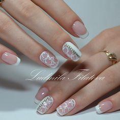 Nailart very good. Nail Time, Beautiful Nail Designs, Holiday Nails, Cool Nail Art, Wedding Nails, Some Fun, Manicure, Nail Polish, Design Inspiration