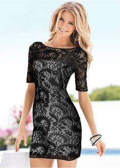 Kleid Elegantes Kleid in raffiniertem Spitzenmaterial