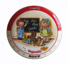 The Campbell Kids VEGETABLE SOUP Danbury Mint Collectible Plate   http://stores.ebay.com/The-Rolling-Wave?_trksid=p2047675.l2563
