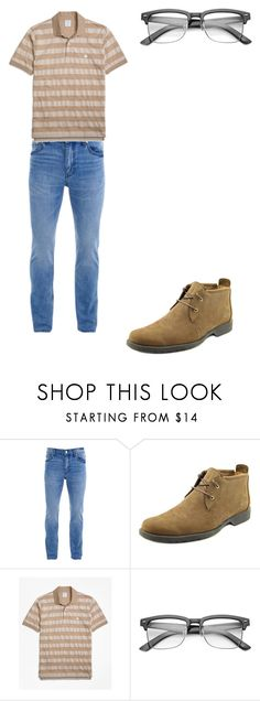 """""""90s Stepdad w/ mustache"""" by codynealhubanks on Polyvore featuring BLK DNM, Earthkeepers By Timberland, Brooks Brothers, ZeroUV, men's fashion and menswear"""
