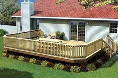 Fancy Raised Deck Construction Plans Package