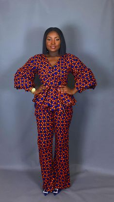 NEW IN:African clothingAfrican print trousers and top