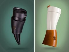 Drink your coffee like a viking! Stylish goat horn mug comes with a convenient…