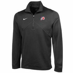 Nike Utah Utes Training Quarter Zip Performance Jacket - Anthracite
