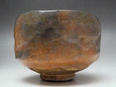 Raku Chawan Japanese Kyo Pottery Tea Ceremony Bowl Signed with wooden box #1767 - antique shop CHANO-YU