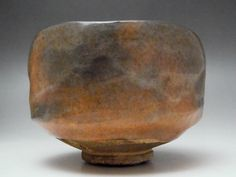 Raku Chawan Japanese Kyo Pottery Tea Ceremony Bowl Signed with wooden box #1767 - antique shop CHANO-YU